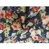 Rifľovina farebné kvety na tmavomodrej