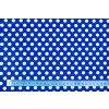Bavlnené plátno bodky biele na modrej 1 cm