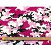 Bambusový úplet maskáč ružovo-fialový