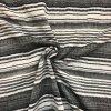 Popelín sivo-čierno-biele vzorované prúžky