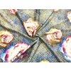 Umelý hodváb / Silky farebné pastelové ruže na žlto-modrej mozaike