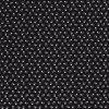 Bavlnené plátno biele lebky na čiernej drobný vzor