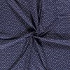 Bavlnené plátno lebky na modrej drobný vzor