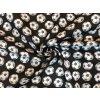 Bavlnené plátno biele futbalové lopty na čiernej