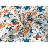 Bavlnené plátno žraločí podmorský svet