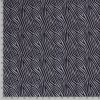 Bavlnený úplet vzor zebry na sivom melíri