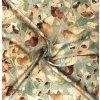 Umelý hodváb / Silky listy na vetvičkách na zelenkavej