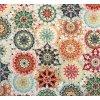 Bavlna režná kvetinové mandaly farebné
