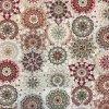 Bavlna režná kvetinové mandaly bordové