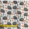 Bavlnené plátno ježkovia v rade
