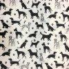 Bavlnené plátno dalmatínec a iné psy na bielej