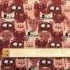 Popelín bordové mačky v rade