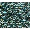 Bavlnené plátno petrolejové trojuholníky