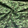 Popelín maskáč zeleno-čierny