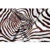 Umelý hodváb / Silky hnedý zvierací vzor