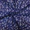 Bavlna biele kytky na modré 3