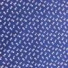 Bavlna drobné biele kytičky na modré 1