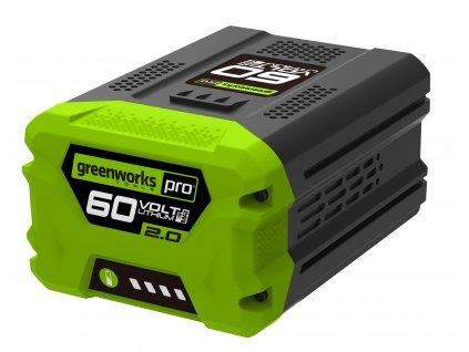 45179 greenworks g60b2 60 v lithium iontova baterie 2 ah