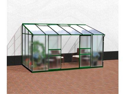 49083 sklenik vitavia ida 7800 matne sklo 4 mm pc 6 mm zeleny