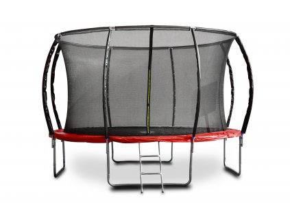 96567 trampolina g21 spacejump 366 cm cervena s ochrannou siti schudky zdarma