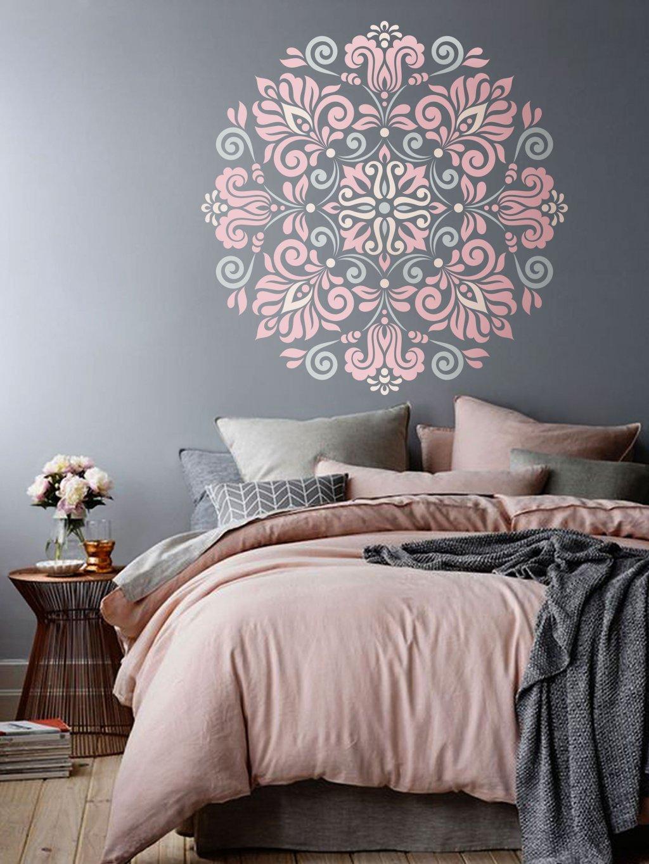 stencil flower bedroom sablona kvetina loznice