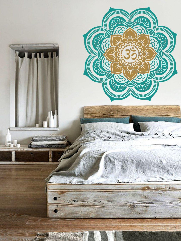stencil mandala flower of life om bedroom