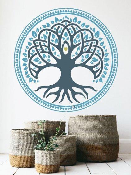 sablona mandala strom zivota