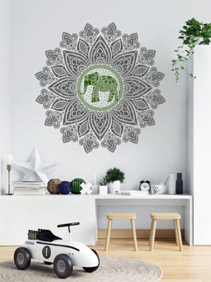 sablona mandala slon