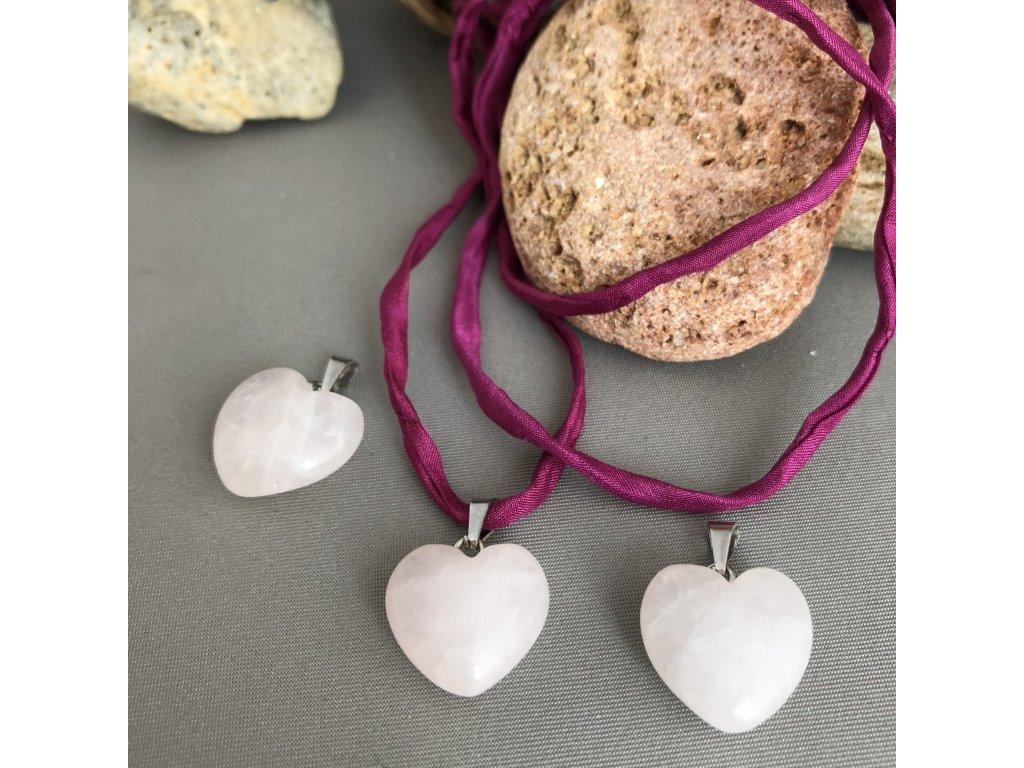 Přívěšek srdce RŮŽENÍN - větší