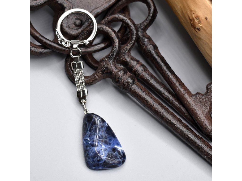 Klíčenka s kamenem - sodalit