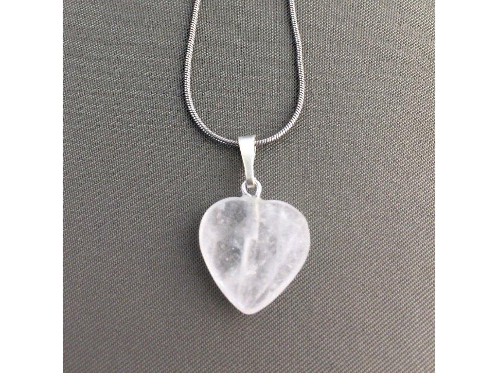 Přívěšek srdce KŘIŠŤÁL - menší