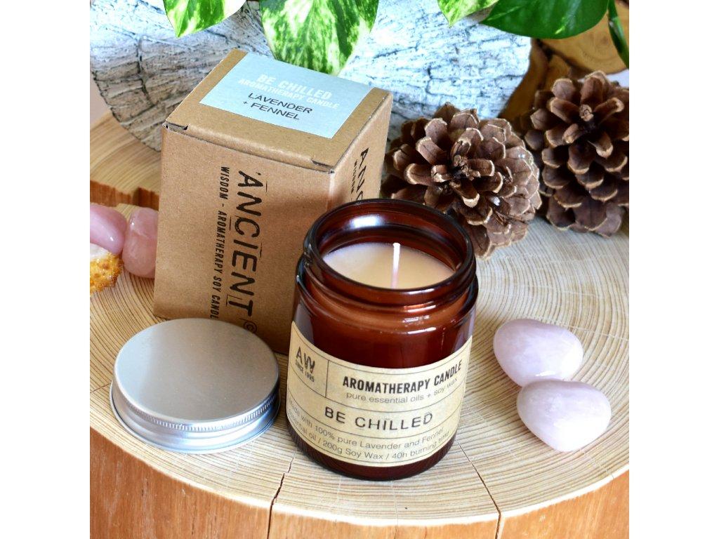 Aromaterapeutická sójová svíčka CHVÍLE ODDECHU