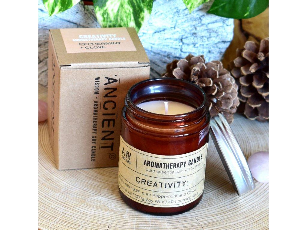 Aromaterapeutická sójová svíčka KREATIVITA