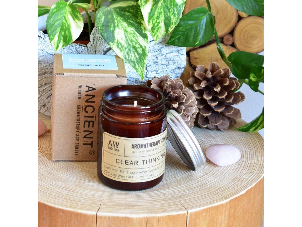 Aromaterapeutická sójová svíčka JASNÉ MYŠLENÍ