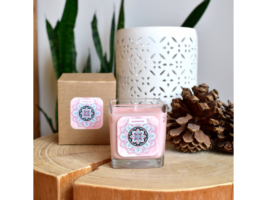 Mandalová aromaterapeutická svíčka HARMONIE