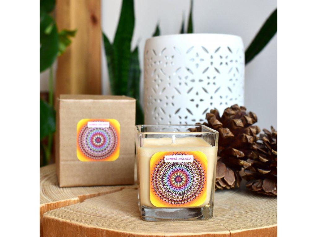 Mandalová aromaterapeutická svíčka DOBRÁ NÁLADA