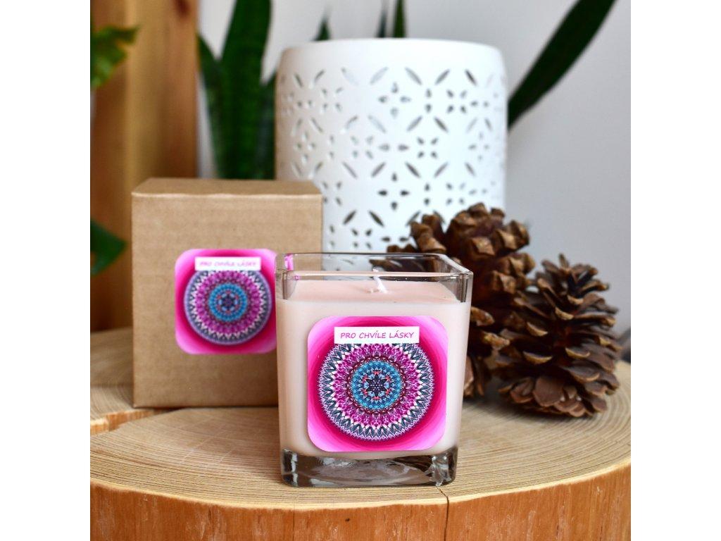 Mandalová aromaterapeutická svíčka PRO CHVÍLE LÁSKY