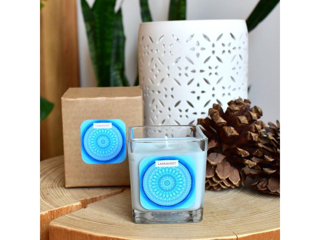 Mandalová aromaterapeutická svíčka LASKAVOST