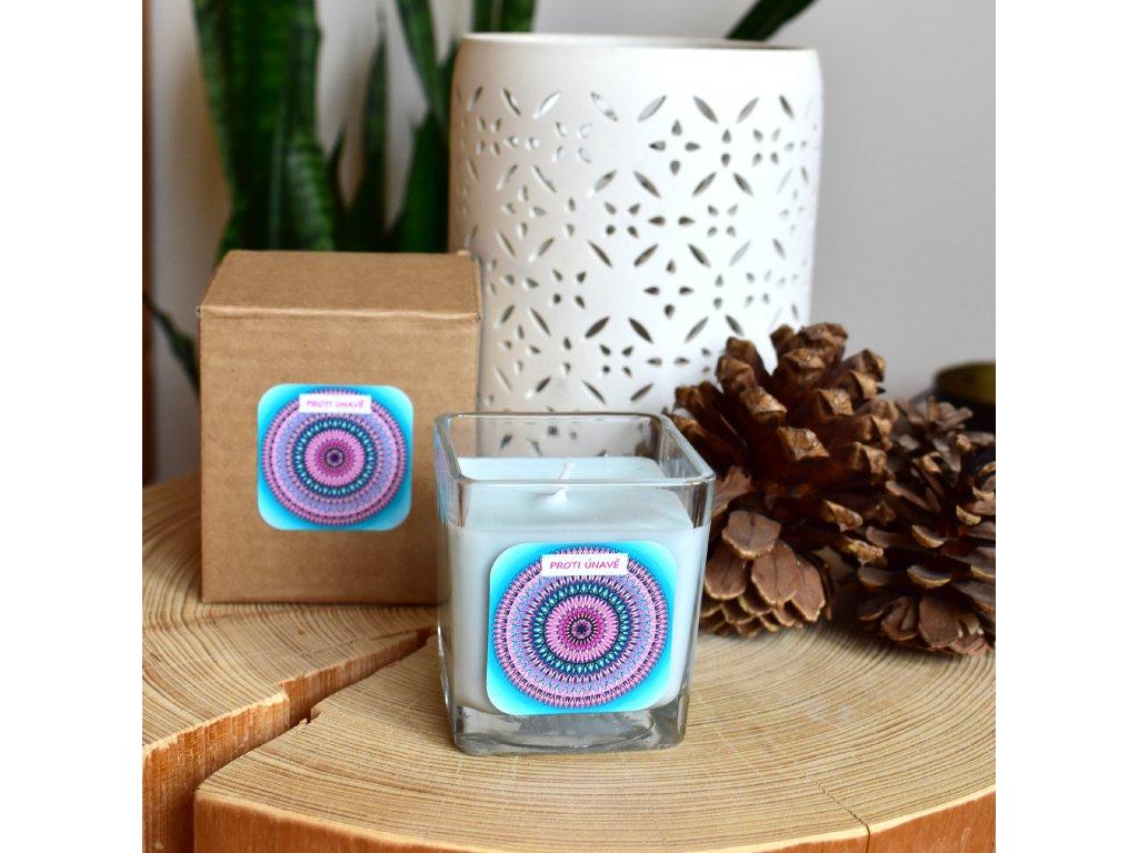 Mandalová aromaterapeutická svíčka PROTI ÚNAVĚ