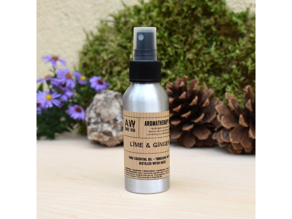 Aromaterapeutický bytový parfém ZÁZVOR A LIMETKA