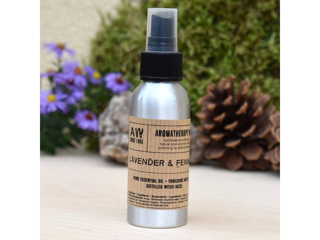 Aromaterapeutický bytový parfém LEVANDULE A FENYKL