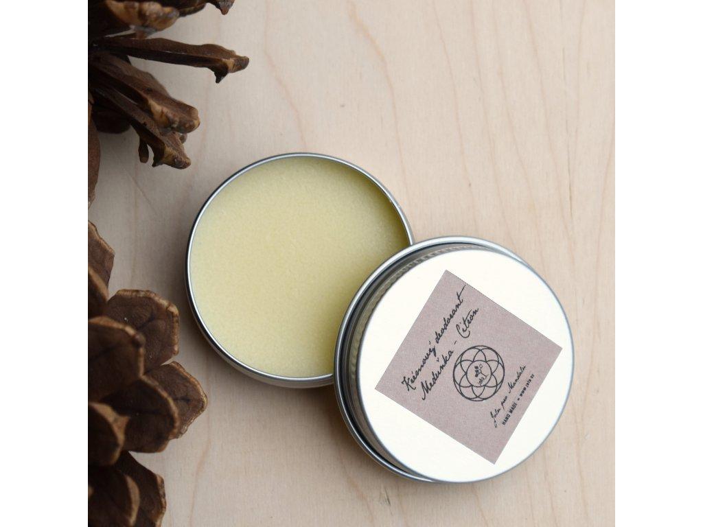 Krémový deodorant MEDUŇKA A CITRÓN
