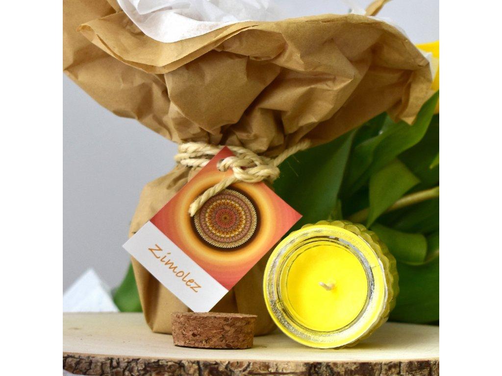 Aromaterapeutická svíčka ZIMOLEZ
