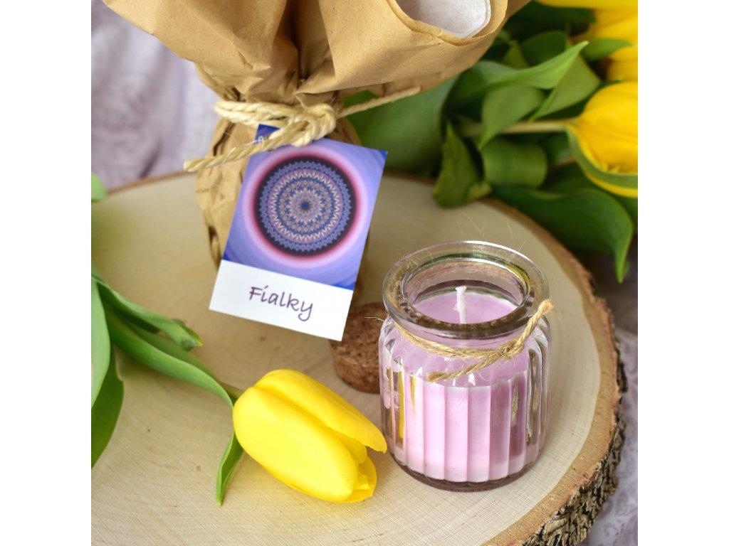 Aromaterapeutická svíčka FIALKY