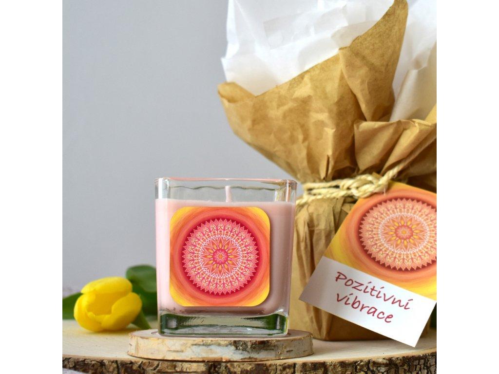 Aromaterapeutická svíčka POZITIVNÍ VIBRACE