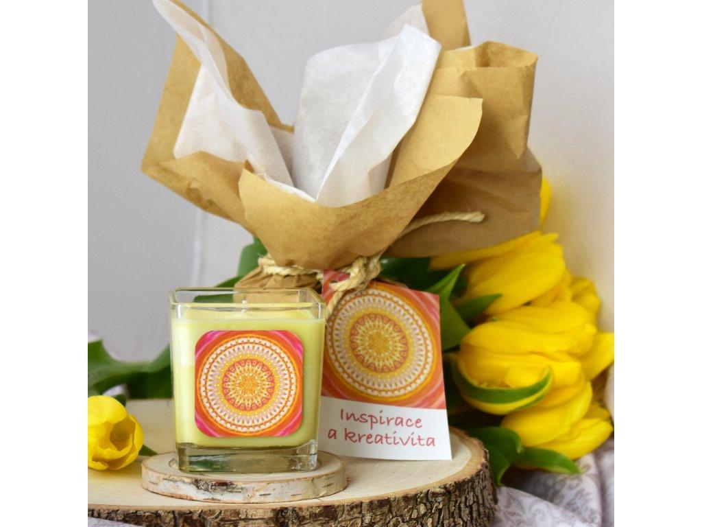 Aromaterapeutická svíčka INSPIRACE A KREATIVITA
