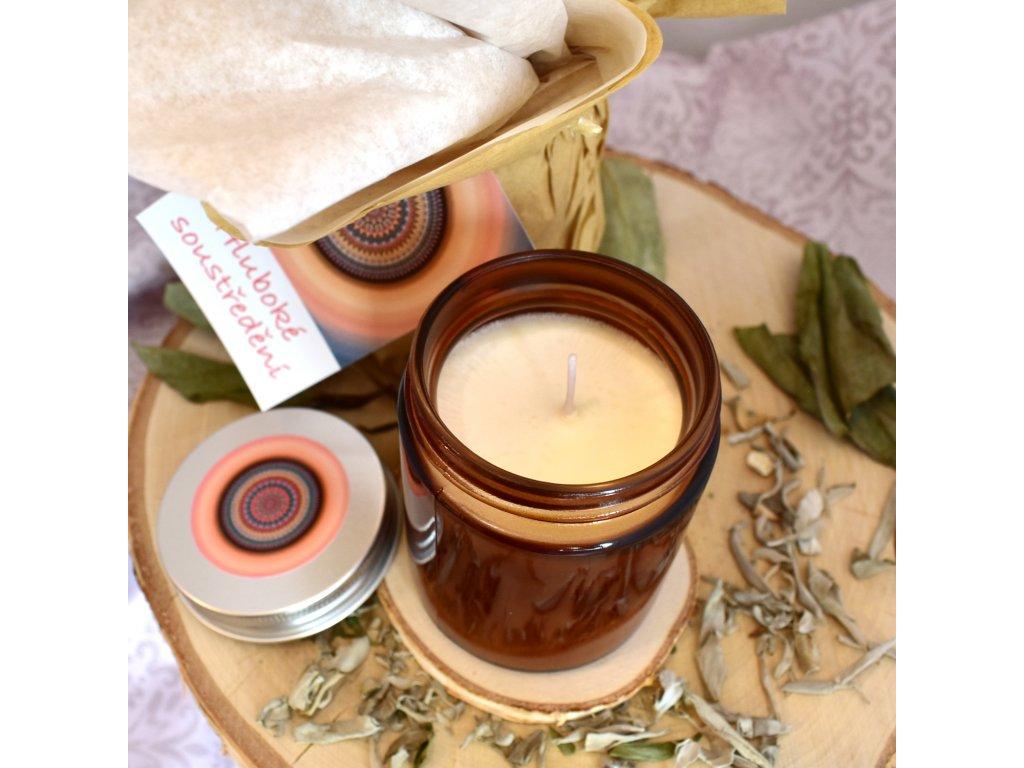 Aromaterapeutická svíčka HLUBOKÉ SOUSTŘEDĚNÍ