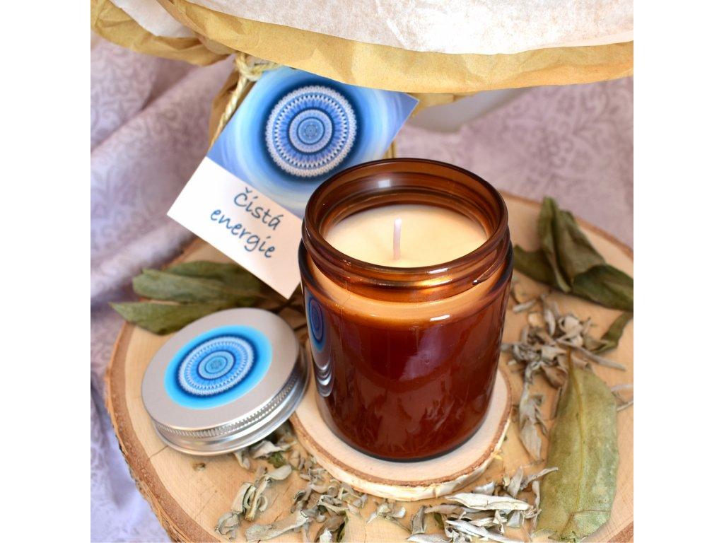 Aromaterapeutická svíčka ČISTÁ ENERGIE