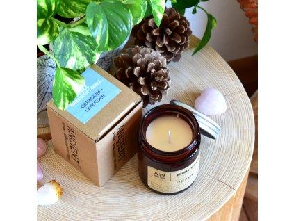 Aromaterapeutická sójová svíčka VNITŘNÍ KLID A MÍR