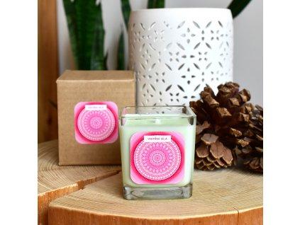Mandalová aromaterapeutická svíčka VNITŘNÍ SÍLA